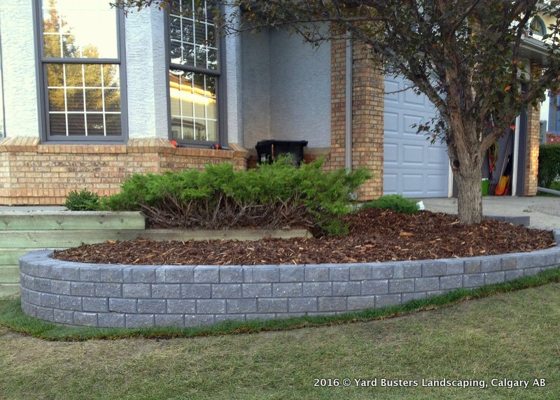 Christmas Lights On Stone Wall : 4-retaining-walls-by-yard-busters-002 - Yard Busters Landscaping, Lawn Care, Snow Removal ...