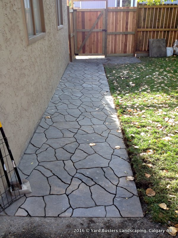 Before And After Flagstone Walkway Along The Side Of The